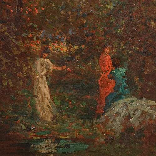 Three Young Women in a Wood