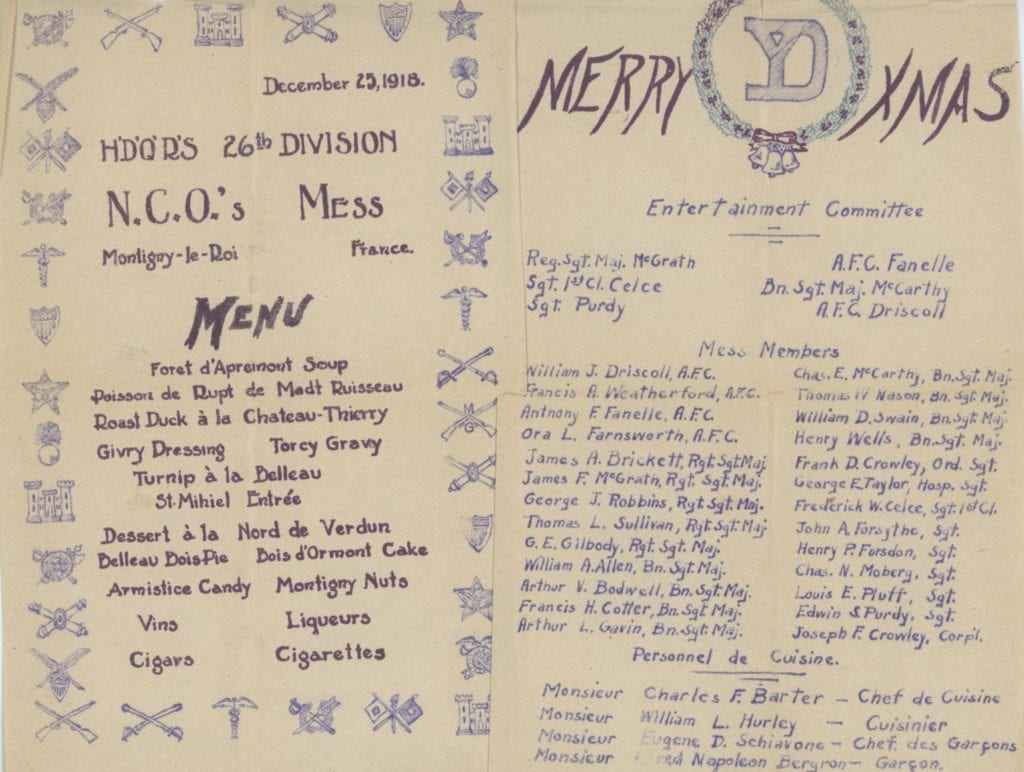 Glimpse: Christmas with the Yankee Division, 1918